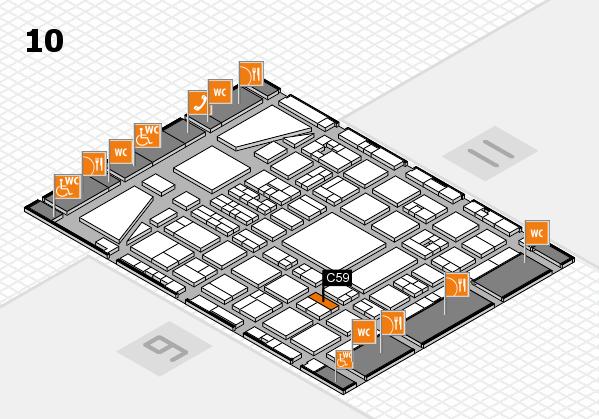 BEAUTY DÜSSELDORF 2017 hall map (Hall 10): stand C59