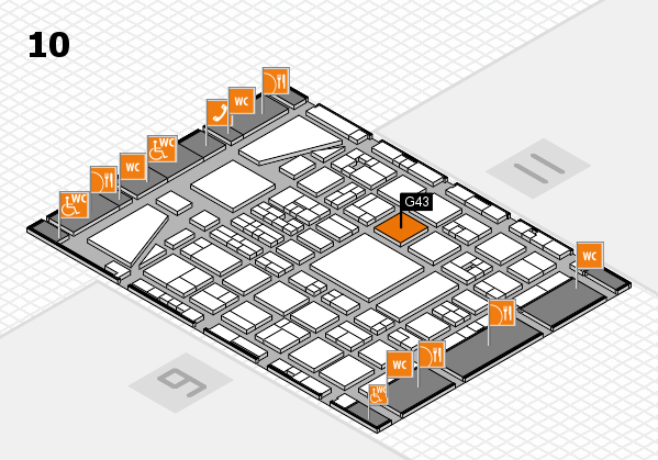 BEAUTY DÜSSELDORF 2017 hall map (Hall 10): stand G43