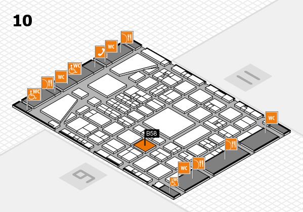 BEAUTY DÜSSELDORF 2017 hall map (Hall 10): stand B58