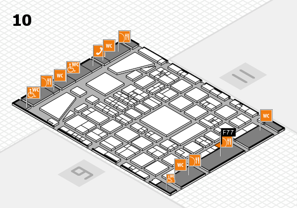 BEAUTY DÜSSELDORF 2017 hall map (Hall 10): stand F77