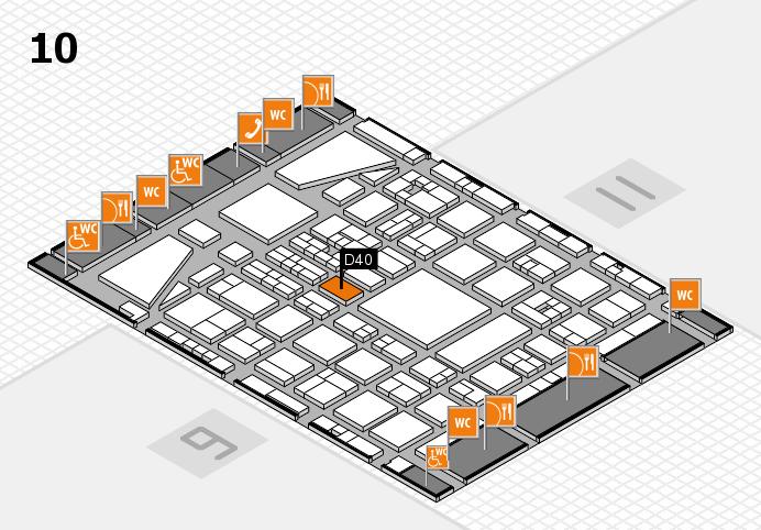 BEAUTY DÜSSELDORF 2017 Hallenplan (Halle 10): Stand D40