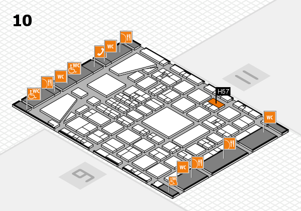 BEAUTY DÜSSELDORF 2017 hall map (Hall 10): stand H57