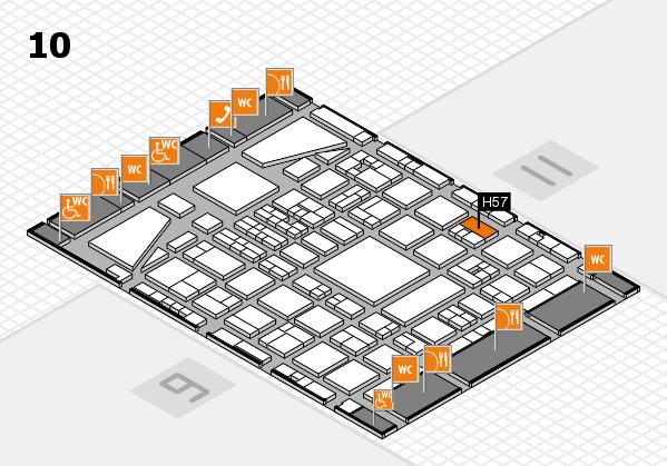 BEAUTY DÜSSELDORF 2017 hall map (Hall 10): stand H57