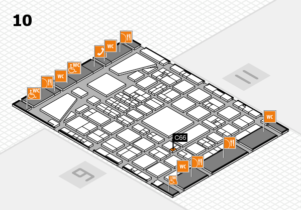 BEAUTY DÜSSELDORF 2017 hall map (Hall 10): stand C66