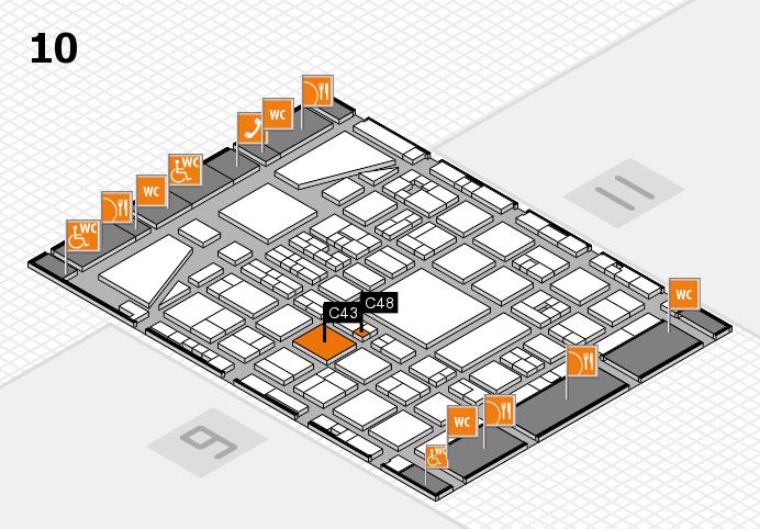 BEAUTY DÜSSELDORF 2017 hall map (Hall 10): stand C43, stand C48