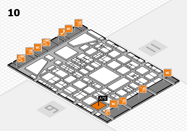 BEAUTY DÜSSELDORF 2017 hall map (Hall 10): stand A76