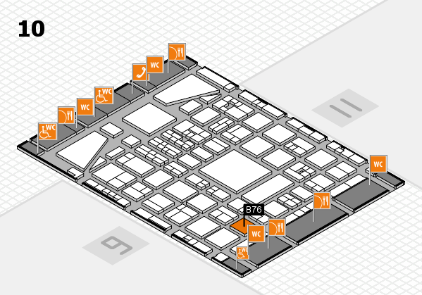 BEAUTY DÜSSELDORF 2017 hall map (Hall 10): stand B76