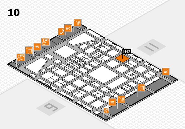 BEAUTY DÜSSELDORF 2017 hall map (Hall 10): stand H43