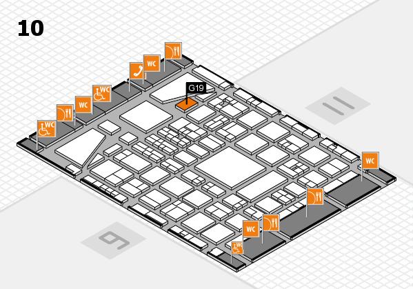 BEAUTY DÜSSELDORF 2017 hall map (Hall 10): stand G19