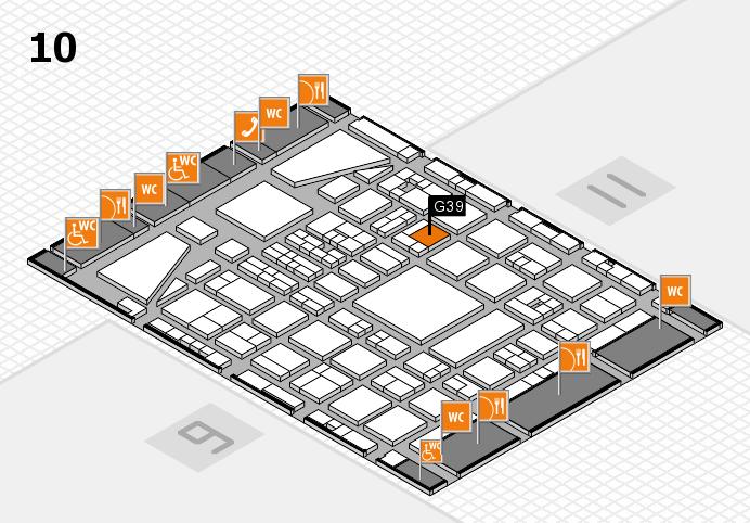 BEAUTY DÜSSELDORF 2017 hall map (Hall 10): stand G39