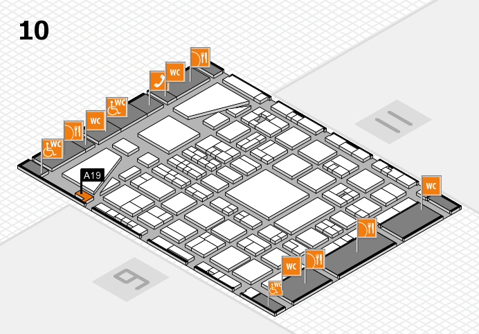 BEAUTY DÜSSELDORF 2017 hall map (Hall 10): stand A19