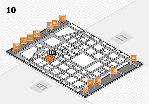 BEAUTY DÜSSELDORF 2017 hall map (Hall 10): stand B30