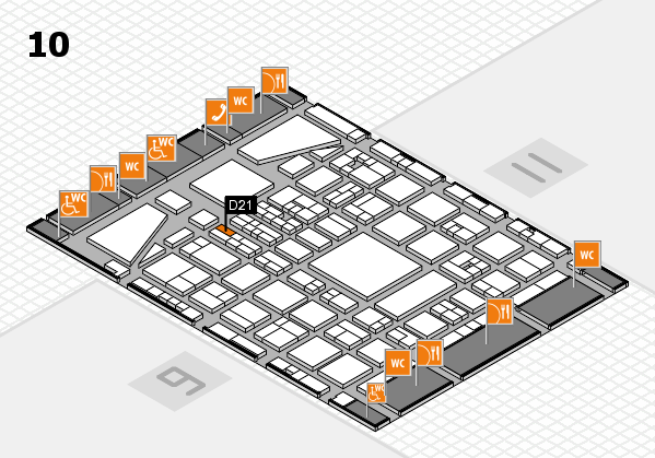 BEAUTY DÜSSELDORF 2017 hall map (Hall 10): stand D21