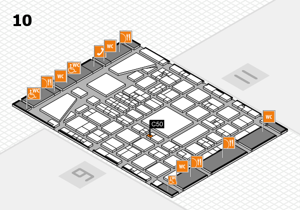 BEAUTY DÜSSELDORF 2017 hall map (Hall 10): stand C50