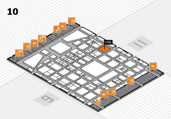 BEAUTY DÜSSELDORF 2017 hall map (Hall 10): stand H39