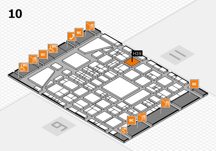 BEAUTY DÜSSELDORF 2017 hall map (Hall 10): stand H39
