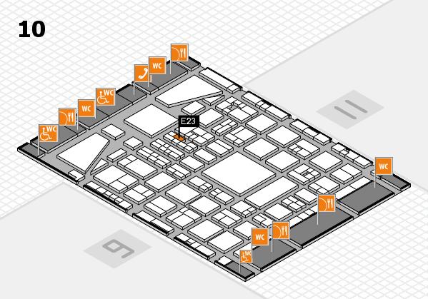 BEAUTY DÜSSELDORF 2017 hall map (Hall 10): stand E23
