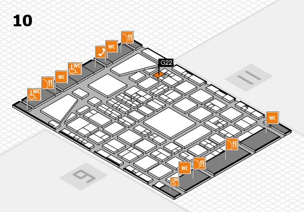 BEAUTY DÜSSELDORF 2017 hall map (Hall 10): stand G22