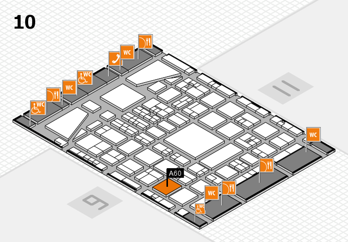 BEAUTY DÜSSELDORF 2017 hall map (Hall 10): stand A60