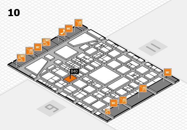 BEAUTY DÜSSELDORF 2017 hall map (Hall 10): stand B40