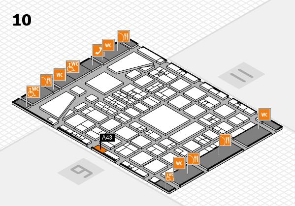 BEAUTY DÜSSELDORF 2017 hall map (Hall 10): stand A43