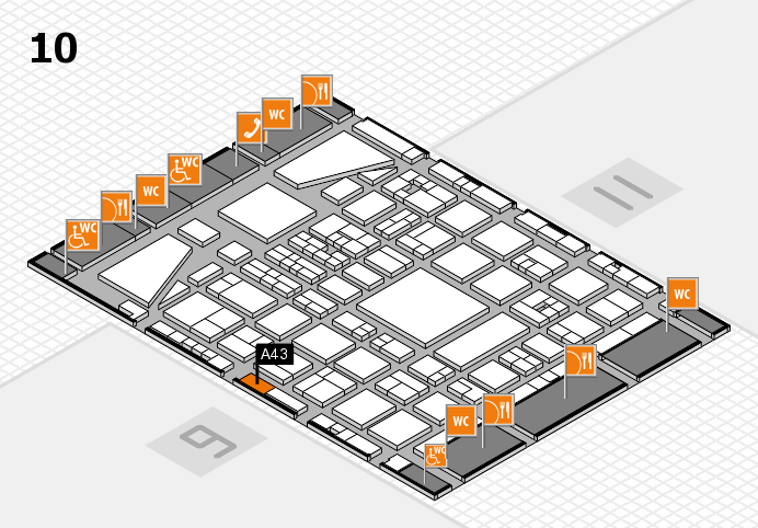 BEAUTY DÜSSELDORF 2017 hall map (Hall 10): stand A43