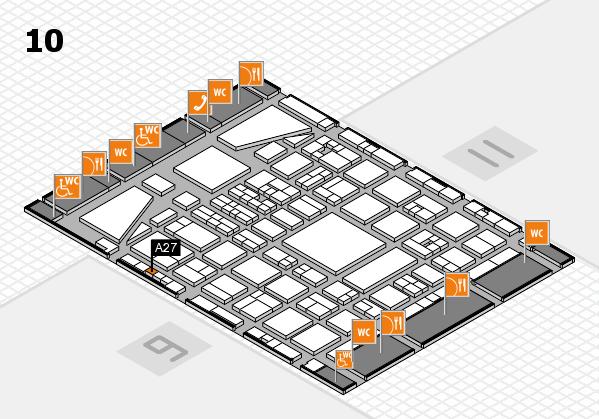 BEAUTY DÜSSELDORF 2017 hall map (Hall 10): stand A27