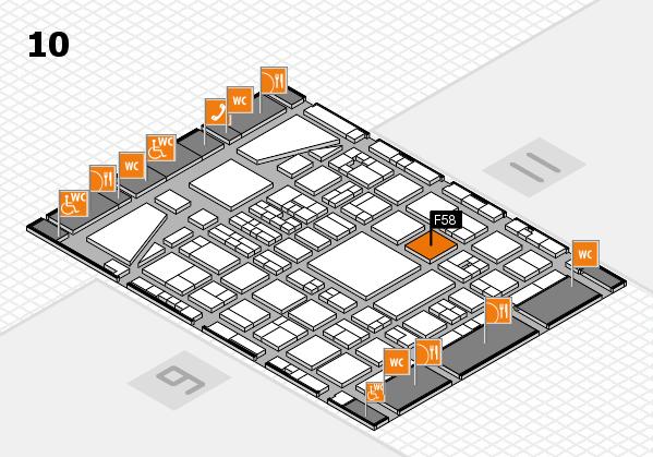 BEAUTY DÜSSELDORF 2017 hall map (Hall 10): stand F58