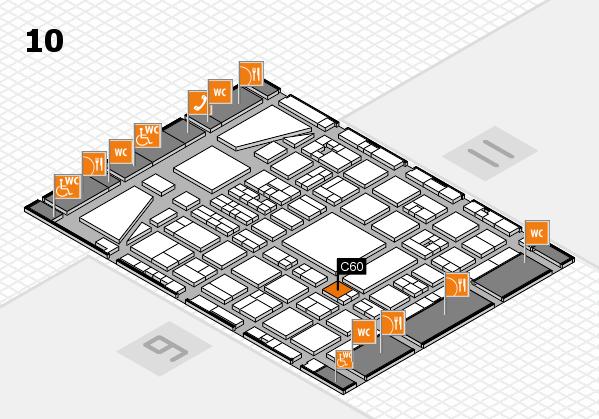 BEAUTY DÜSSELDORF 2017 hall map (Hall 10): stand C60