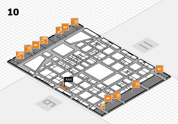 BEAUTY DÜSSELDORF 2017 hall map (Hall 10): stand A44