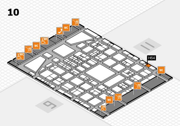 BEAUTY DÜSSELDORF 2017 hall map (Hall 10): stand H64