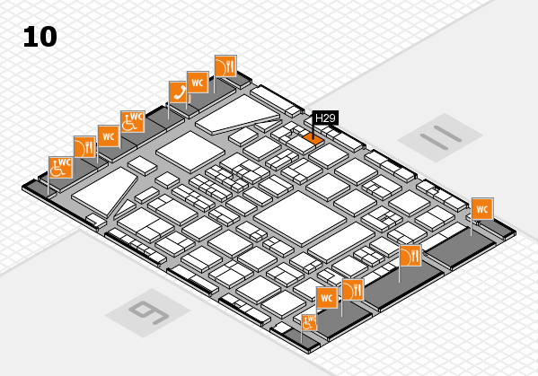 BEAUTY DÜSSELDORF 2017 hall map (Hall 10): stand H29