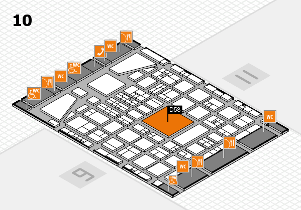 BEAUTY DÜSSELDORF 2017 hall map (Hall 10): stand D58