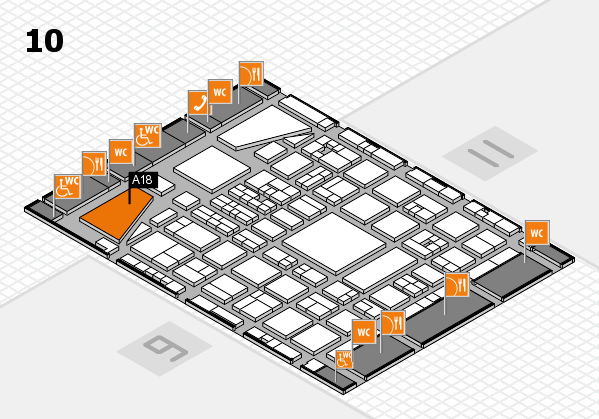 BEAUTY DÜSSELDORF 2017 hall map (Hall 10): stand A18
