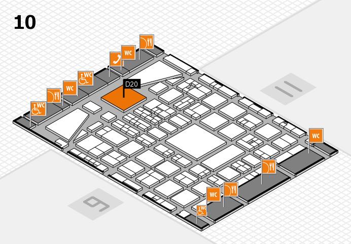 BEAUTY DÜSSELDORF 2017 Hallenplan (Halle 10): Stand D20