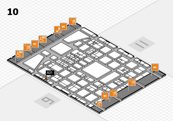 BEAUTY DÜSSELDORF 2017 hall map (Hall 10): stand A31