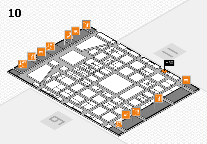 BEAUTY DÜSSELDORF 2017 hall map (Hall 10): stand H60