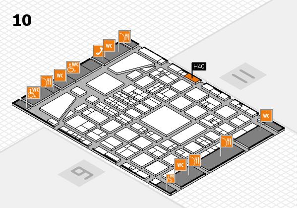 BEAUTY DÜSSELDORF 2017 hall map (Hall 10): stand H40
