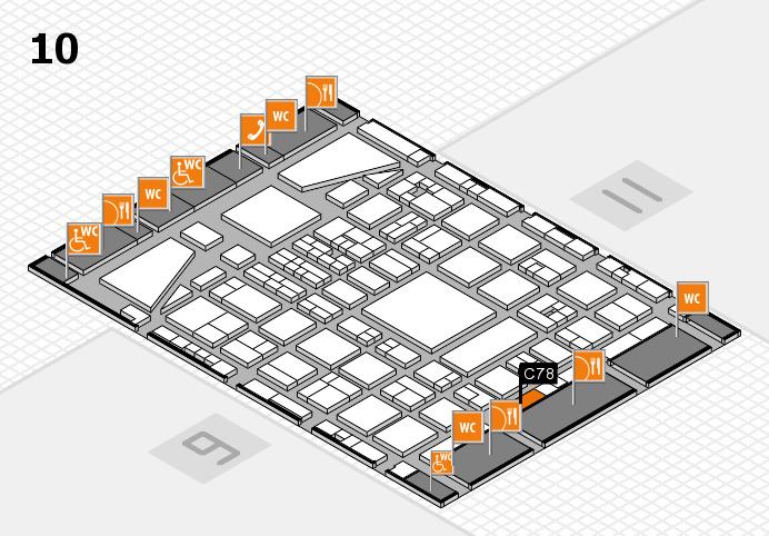 BEAUTY DÜSSELDORF 2017 hall map (Hall 10): stand C78