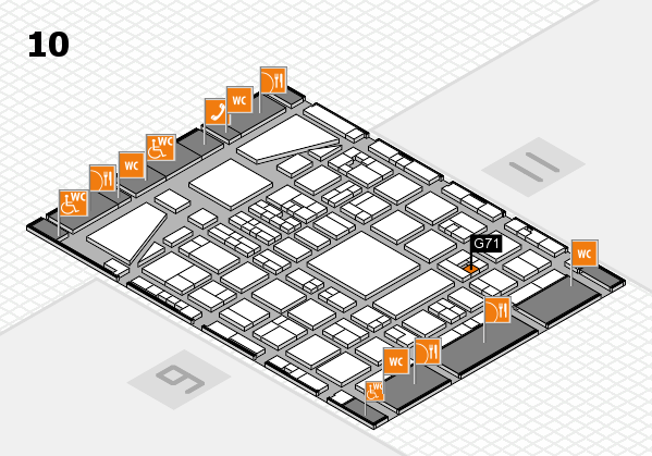 BEAUTY DÜSSELDORF 2017 hall map (Hall 10): stand G71