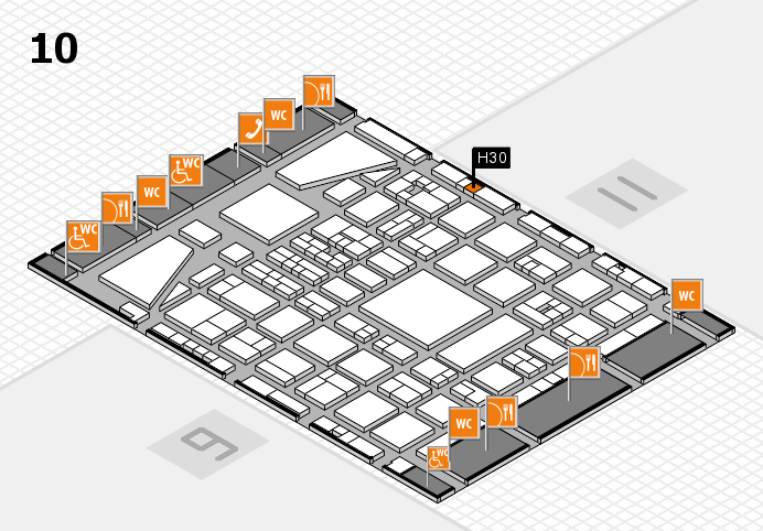 BEAUTY DÜSSELDORF 2017 hall map (Hall 10): stand H30