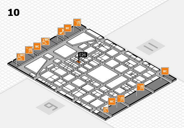 BEAUTY DÜSSELDORF 2017 hall map (Hall 10): stand E26