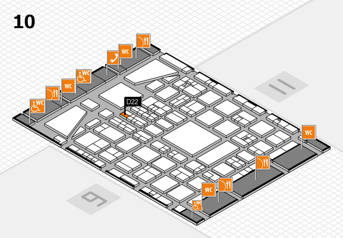 BEAUTY DÜSSELDORF 2017 hall map (Hall 10): stand D22