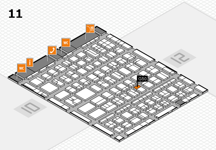 BEAUTY DÜSSELDORF 2017 hall map (Hall 11): stand G50
