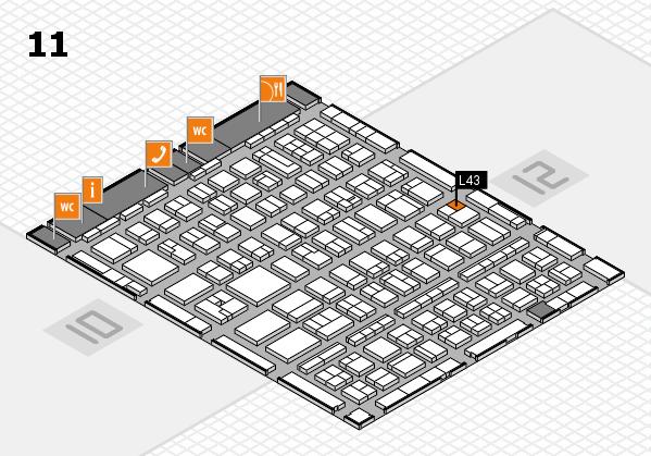 BEAUTY DÜSSELDORF 2017 Hallenplan (Halle 11): Stand L43
