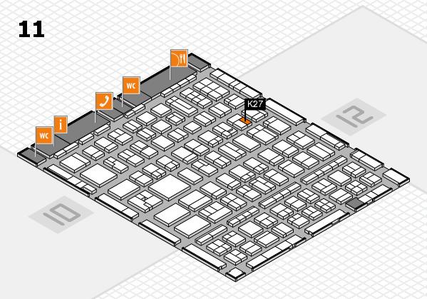 BEAUTY DÜSSELDORF 2017 hall map (Hall 11): stand K27