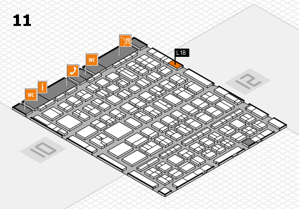 BEAUTY DÜSSELDORF 2017 hall map (Hall 11): stand L18
