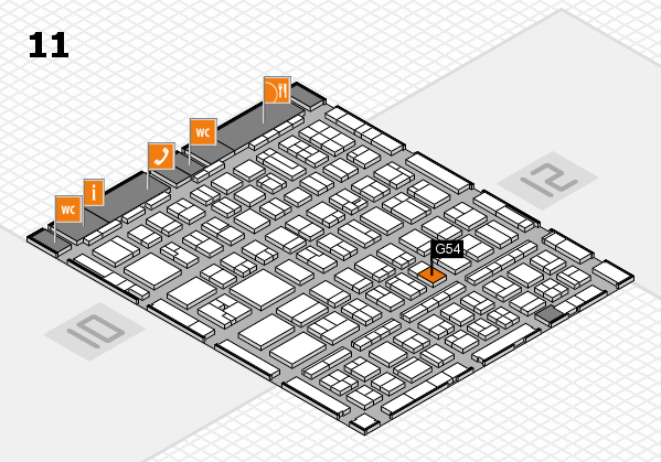 BEAUTY DÜSSELDORF 2017 hall map (Hall 11): stand G54