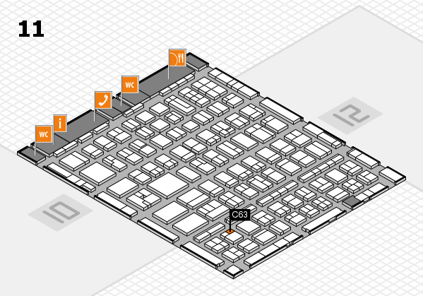 BEAUTY DÜSSELDORF 2017 hall map (Hall 11): stand C63