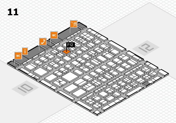 BEAUTY DÜSSELDORF 2017 hall map (Hall 11): stand F12